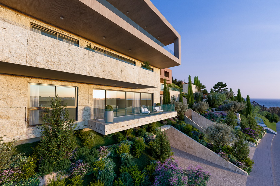 West Hill project Limassol side view