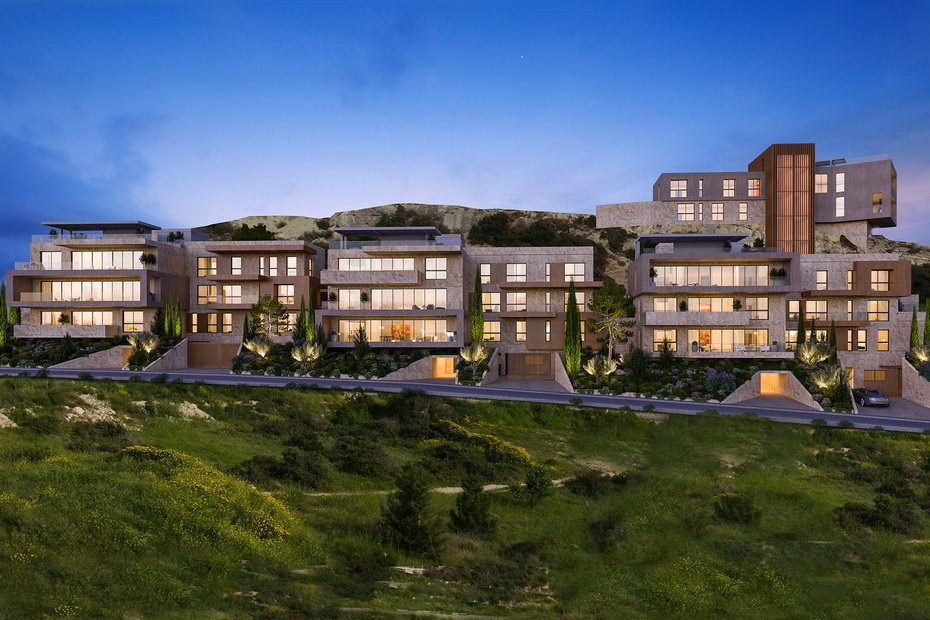west hill project by askanis group by night
