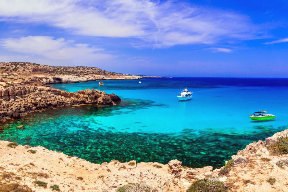 boat cruise around blue lagoon cyprus