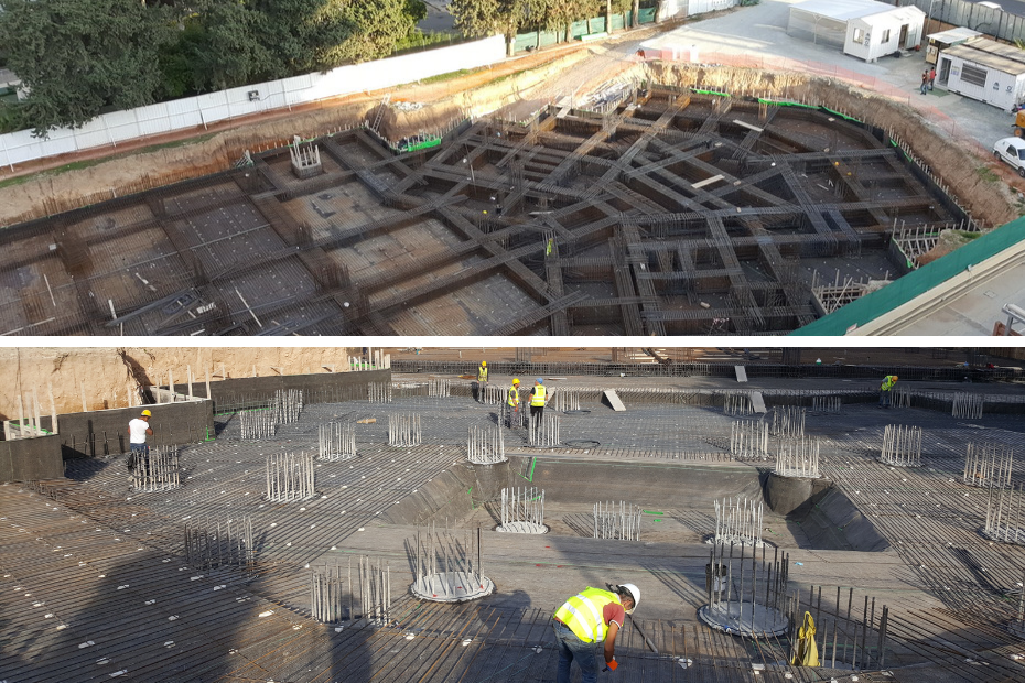 Raft foundation ready for concrete casting antonis askanis ltd