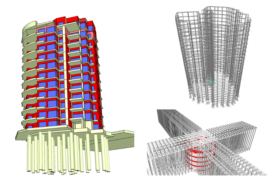 Tower 3D model finish illustration Scaffolding 3D model, structural stability calculation