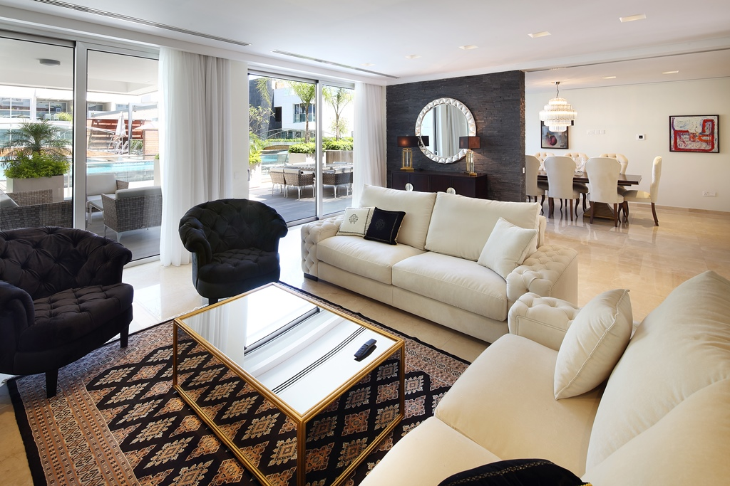 living room in opera project by askanis group in limassol